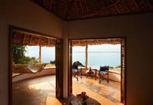 Matemwe Lodge seafront bungalows