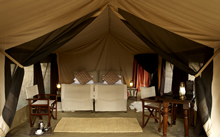 Olakira Camp luxury tent
