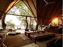 Sand Rivers Camp Selous - lounge deck